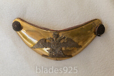 russian officer uniform gorget m/1820 eagle and crest gilded post napoleonic