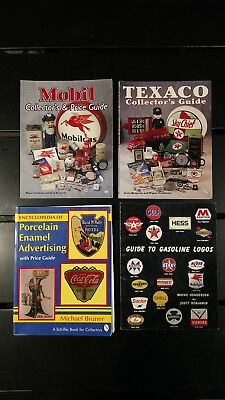 Collection of Gas Pumps, Porcelain Signs, Gasoline Logos Books & Price Guide