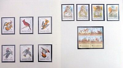 HUNGARY 1959-2000 Beautiful Birds on 14 Pages U/M NB4165