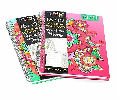 2018-2019 A5 Academic Week to View Diary Wiro / Spiral Cover Mid Year WTV