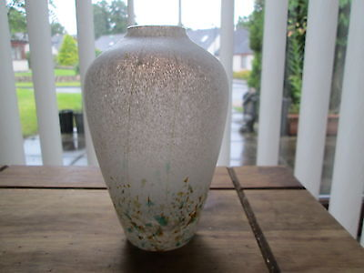British Studio Art Glass Vase Designed By Iestyn Davies