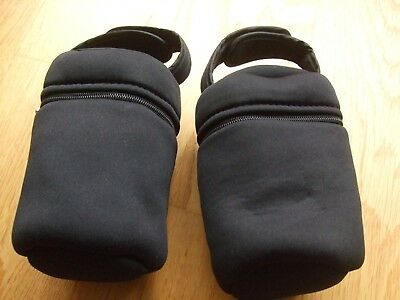 2 Black Tommee Tippee Insulated Bottle Bags Holders Carriers