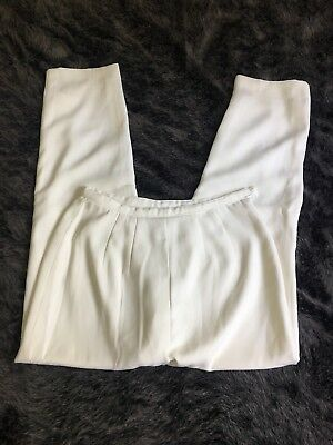 Vntg 80s High Waisted Off White Trousers Size Small/medium