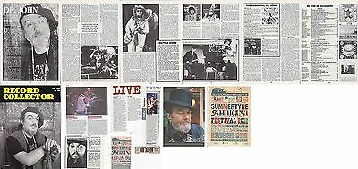 DR JOHN : CUTTINGS COLLECTION -interview adverts-