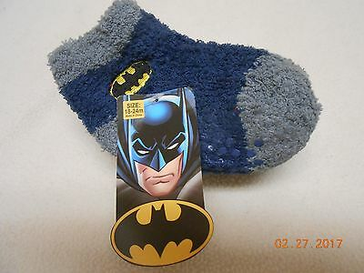 NEW LOT 3 BATMAN SKID LESS SOCKS BOOTIES SIZE 18-24 MONTHS EQUALIZER Christmas