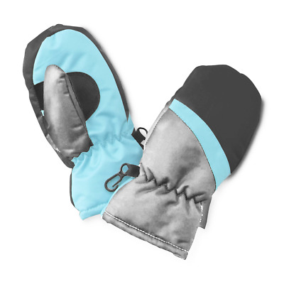 Thinsulate Water Resistant Infant & Toddler Boy's Colorblock Ski Mittens 2T-5T