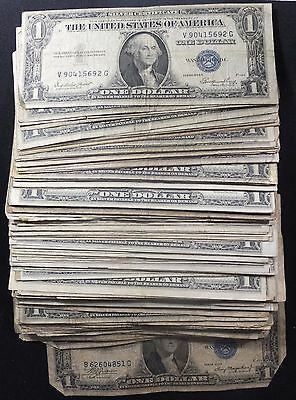 1935 One Dollar Silver Certificate Lot of 10 Random Grade & Condition