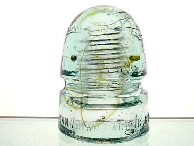 AWESOME GREEN SWIRLED CD 143 CANADIAN PACIFIC RY CO Canada Beehive Insulator