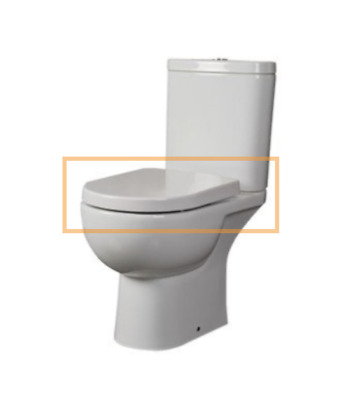 RAK Tonique Soft Close Toilet Seat - Includes All Fittings / Hinges