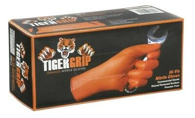 Tiger Grip Orange Nitrile Gloves - Medium - Pack of 100