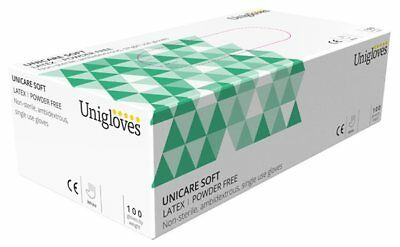 Latex Powder Free Gloves - Small - Pack of 100