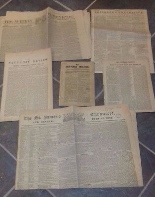 Antique Newspapers  X6,  See Below For Full Desciption
