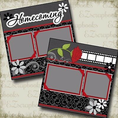 HOMECOMING - Premade Scrapbook Pages - EZ Layout 2195