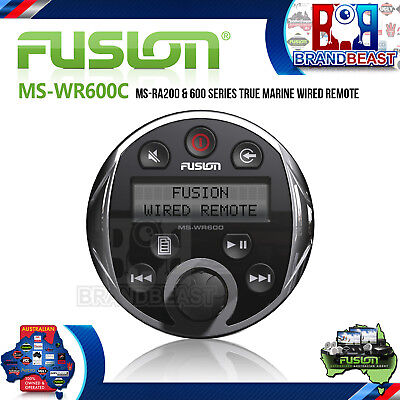 Fusion Ms-wr600c Ms-ra200 & 600 Series True Marine Wired Remote