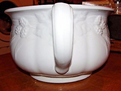 Antique J & G Meakin Ironstone Chamber Pot Wheat & Berry Design Reg.D SOL 391413