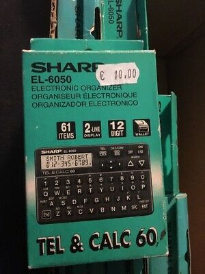 Lotto 9 Sharp El 6050 Elettronic Organizer New