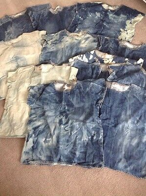 Vintage Joblot New Denim Customised T Shirts X 13 Sizes 8-14 Festival Resell
