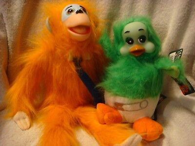 Orville the duck and Cuddles the monkey set