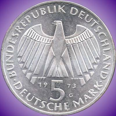1973 'G' & 1973 'J' Germany 5 Mark Silver Coins (11.2 g .625 Silver Each)