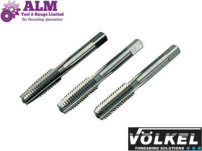 8mm M8x1.25 6H HSS Metric Tap Set (3 pcs Plug,Sec & Taper) Volkel, German Made