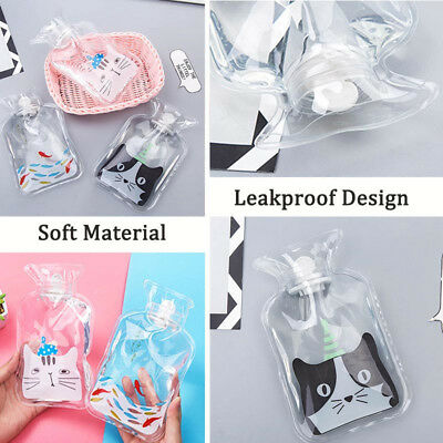 Transparent PVC Hot Water Bag Bottle Relaxing Heat Winter Warm Heat Cold Therapy