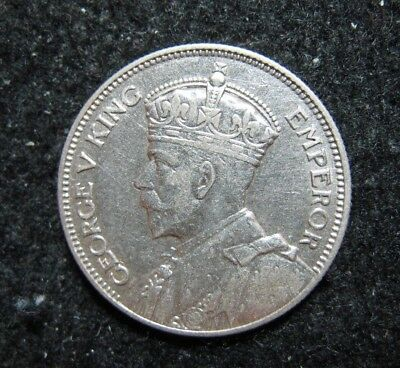 1934 Fiji Shilling Silver Strong Details Nice
