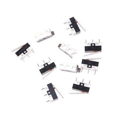 10Pcs KW10 125V 1A 3 Terminals Momentary 13mm Lever Arm Micro Switch