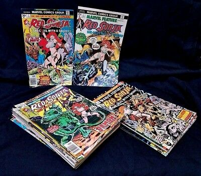 Red Sonja 1975 #1-7 + 1976 #1-15 COMPLETE SET LOT! Marvel Comics Feature Sword