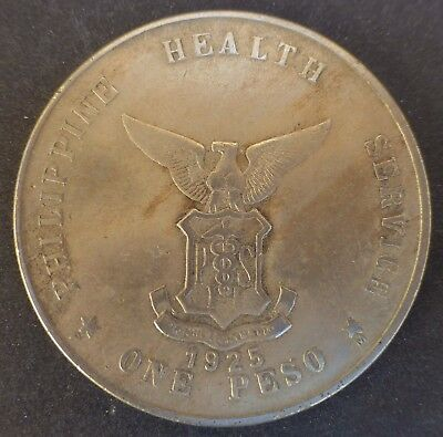1925 One Peso Philippines Island Culion Leper Colony Coin Last One