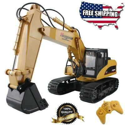 Fistone Electric RC Excavator Crawler Radio Remote Control Truck Wireless Digger