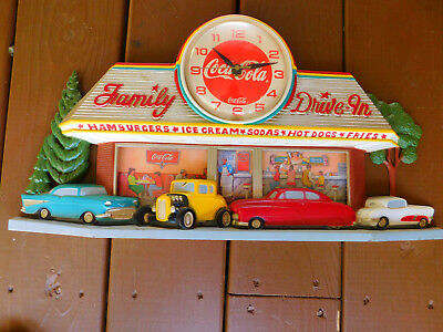 Coca Cola Vintage  Family drive In Wall Clock