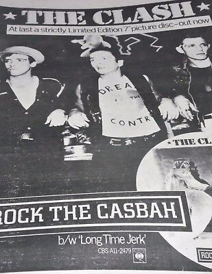 """The Clash 1982 Advert For """"rockin The Casbah""""  A3"""