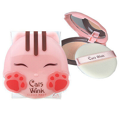 [TONYMOLY] Cats Wink Clear Pact 2 color 5free / Mild Pact / Korea cosmetic