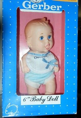 "Vintage Yet New 1991 Gerber 6"" Baby Doll With Hand Painted Eyes In Box"