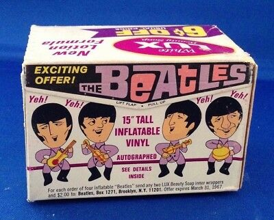 Beatles ORIG 1964 LUX SOAP BOX SEALED AND UNOPENED! White soap