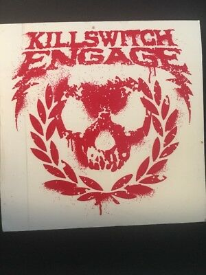 """KILLSWITCH ENGAGE red / Clear Vinyl 5x5 """"Incarnate"""" Promo"""