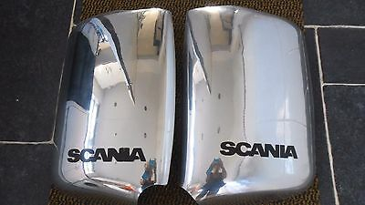 SCANIA  NEW Truck CHROME Not Stainless Steel Mirror Covers Parts! ..1/2 Price!!