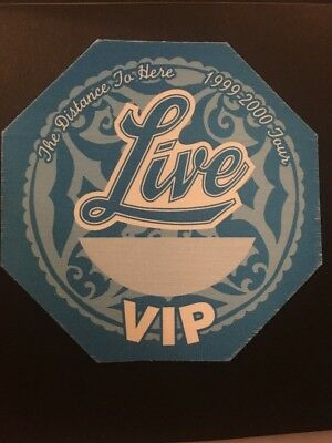LIVE - SATIN BACKSTAGE VIP PASS - 1999-2000 The Distance To Here Tour