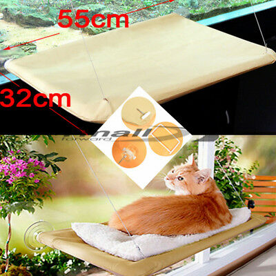 Comfortable Window Mounted Bed Cat Seat Pets Sunny Hammock Beds Cover Washable