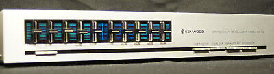 Vintage Kenwood GE-80 Stereo Graphic Equalizer ~ Silver Face ~ Working