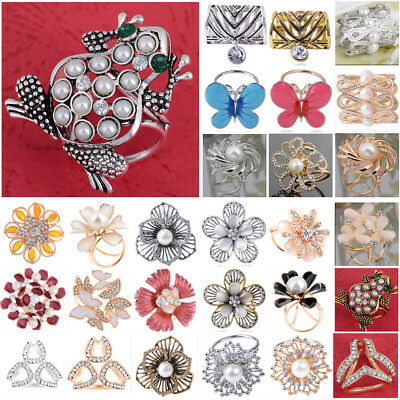 Women Scarf Silk Clip Women Scarf Ring Buckle Pin Holder Brooch Jewelry Lot