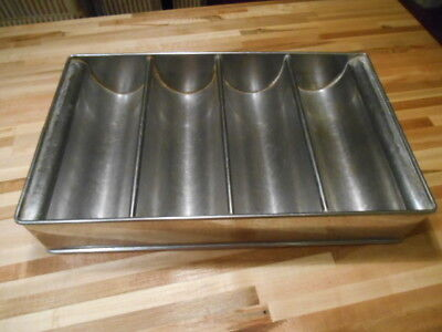 Older Model Commercial/Restaurant 4 Compartment Utensil/Cutlery Tray