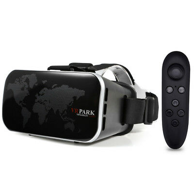 3D VR Glasses Virtual Reality Headset Private Theater Game +Remote Controller