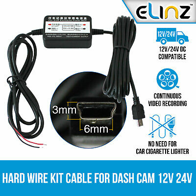 Hard Wire Kit Cable Charger Car Dash Cam Parking Power Battery Drain Protected