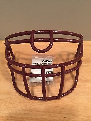 New Bike Football Face Mask Maroon With Hardware!!