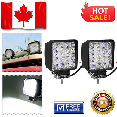 2 X NEW 54W 9'' Flood Spot Combo LED Work Light Bar 4WD SUV Off road ATV 12V 24V