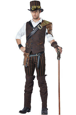 Brand New Steampunk Adventurer Men Outfit Adult Costume