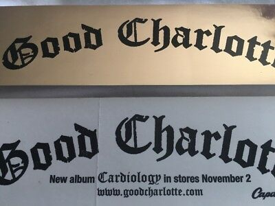 GOOD CHARLOTTE support Sticker For Album CARDIOLOGY Lot 2