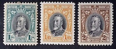 SCARCE 1931 Southern Rhodesia lot of 3 George V in Uniform stamps Mint