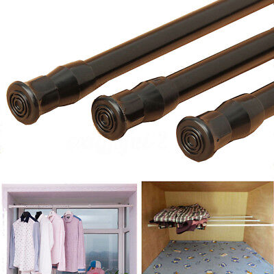 Spring Loaded Extendable Telescopic Tension Curtain Rail Pole Rods Home Tool #dt